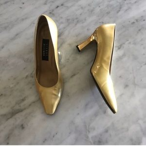 STUART WEITZMAN metallic gold heel pumps size 7